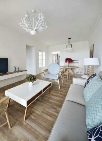 客厅吊顶北欧风格装饰图片
