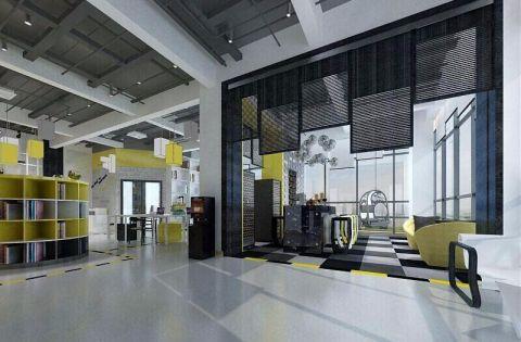 时尚工业风办公室装修效果图