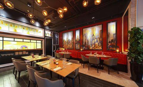 艺术西餐厅装修效果图