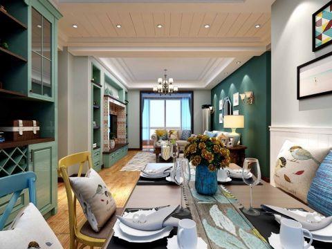 餐厅博古架美式风格装潢设计图片
