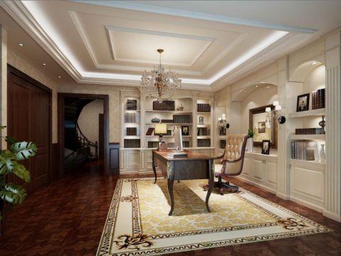书房吊顶欧式风格装饰图片