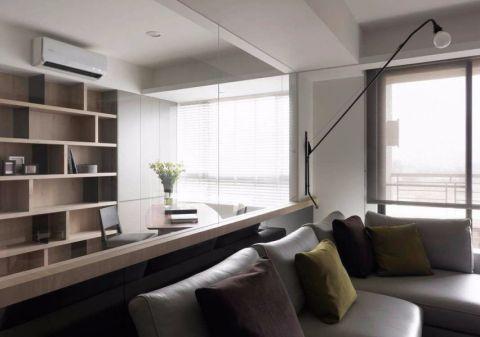 客厅隔断现代简约风格装潢图片