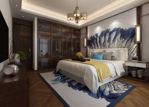 大户型新中式风格三室两厅设计效果图