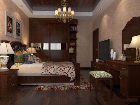 卧室简中风格装潢效果图