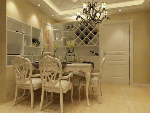 餐厅博古架现代欧式风格装潢设计图片