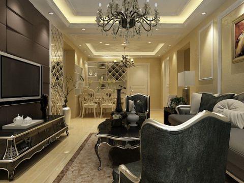 客厅走廊现代欧式风格装饰效果图