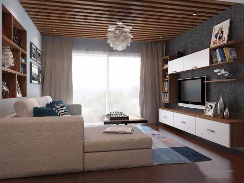 金地艺城华府110平米现代风格三居室装修效果图