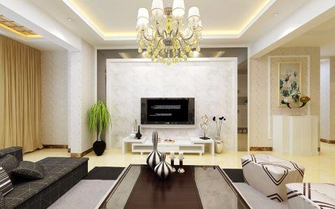 宝象康园现代简约风格三居室装修效果图