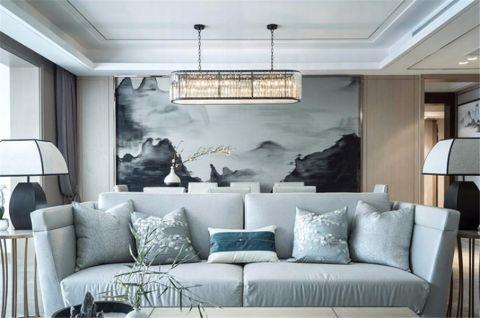 现代中式风格220平米大户型新房装修效果图