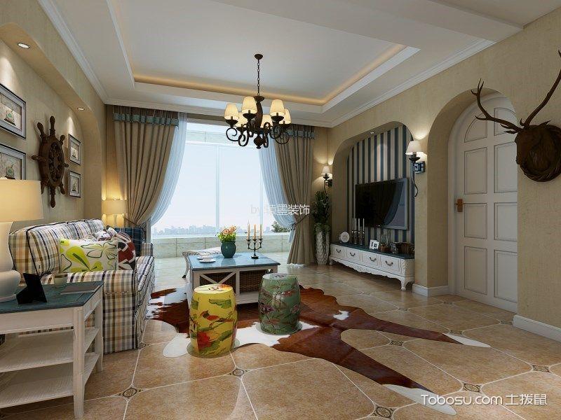地中海风格139平米3房2厅房子装饰效果图
