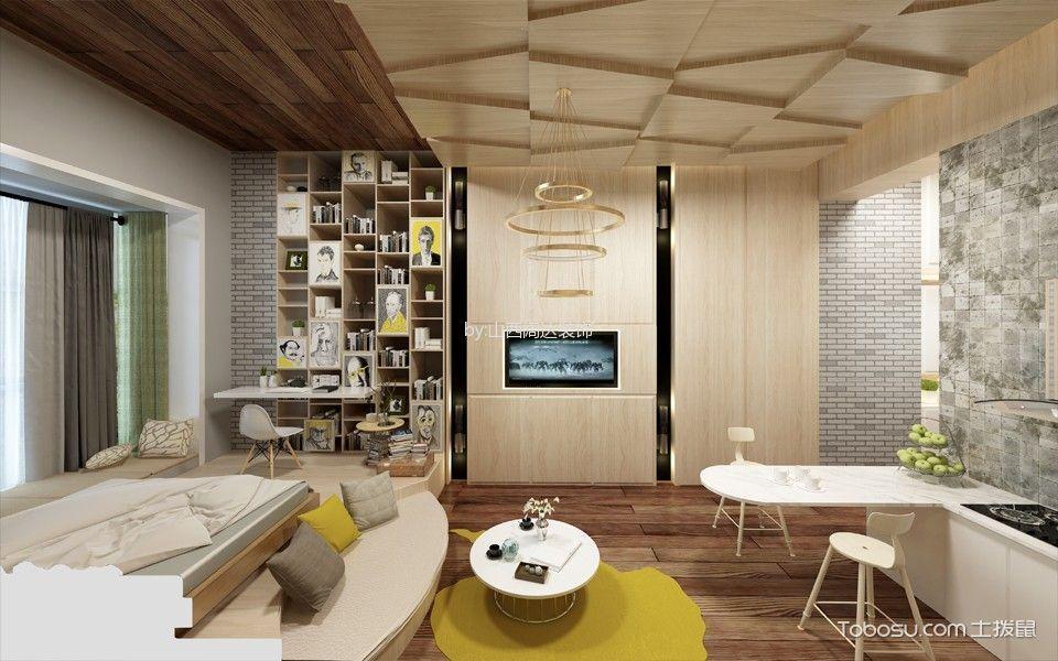 客厅 背景墙_简约风格50平米公寓室内装修效果图