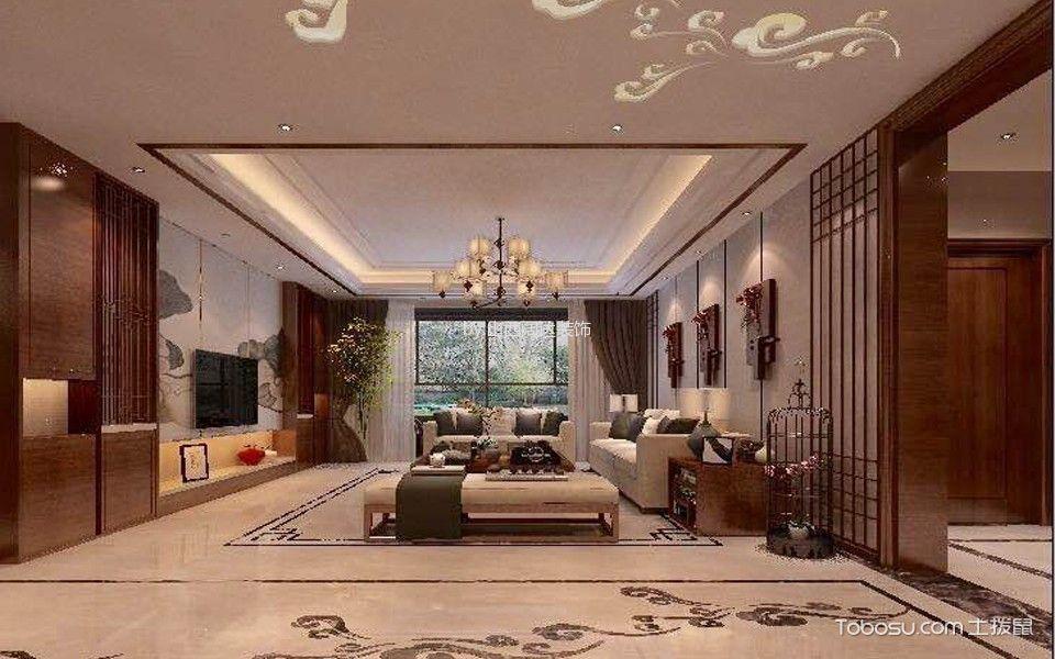中式风格130平米3房2厅房子装饰效果图