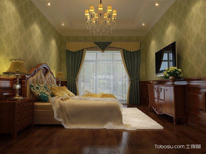 卧室 背景墙_欧式风格400平米别墅新房装修效果图图片