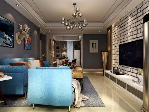 现代风格110平米3房2厅房子装饰效果图