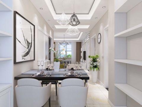 现代简约风格100平米两室两厅室内装修效果图