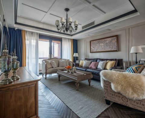 美式风格180平米套房房子装饰效果图