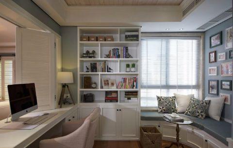 书房照片墙美式风格效果图