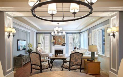 美式风格130平米三房两厅新房装修效果图