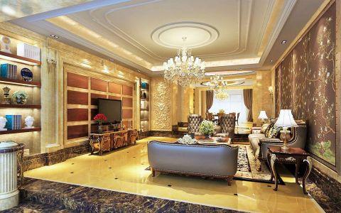 欧式风格200平米大户型新房装修效果图