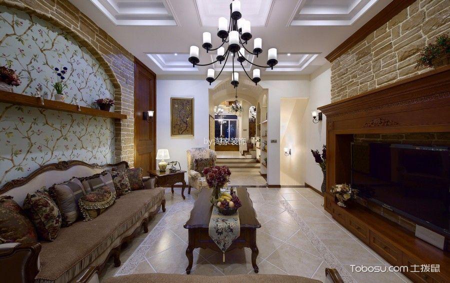 美式风格120平米套房新房装修效果图