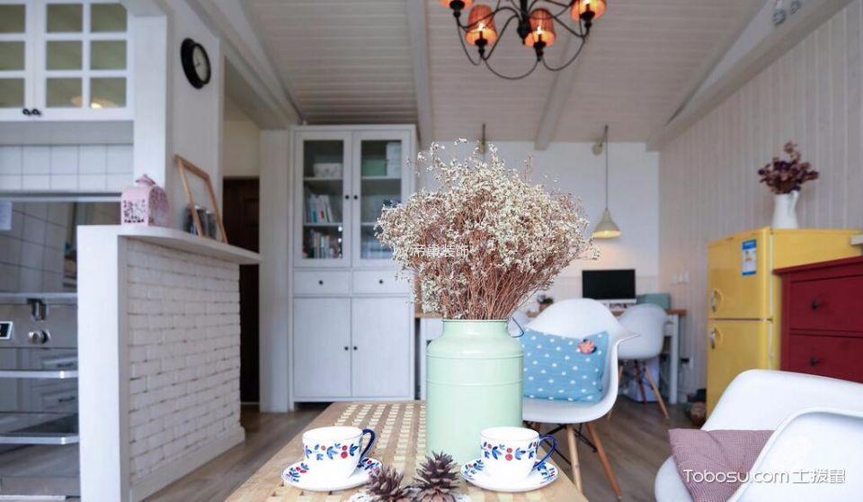 客厅白色吧台北欧风格装修设计图片