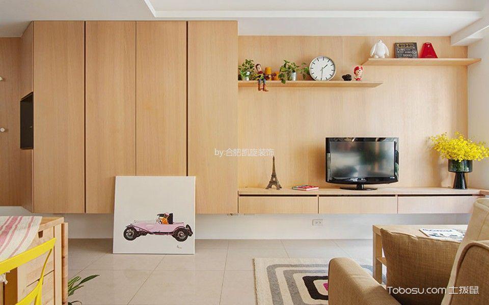客厅 走廊_现代风格120平米大户型新房装修效果图