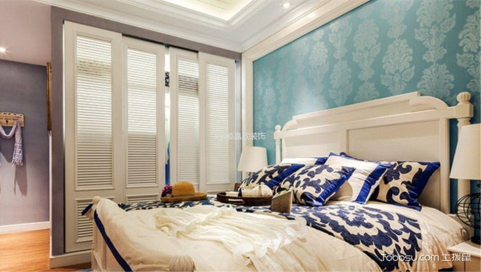 美式风格125平米3房2厅房子装饰效果图