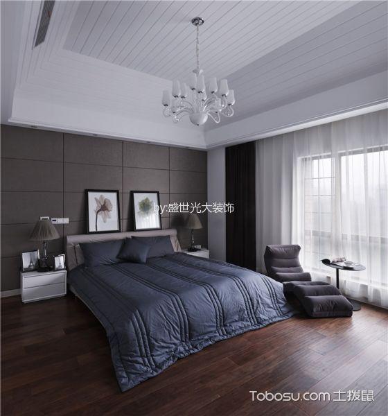 卧室吊顶简欧风格装修效果图图片