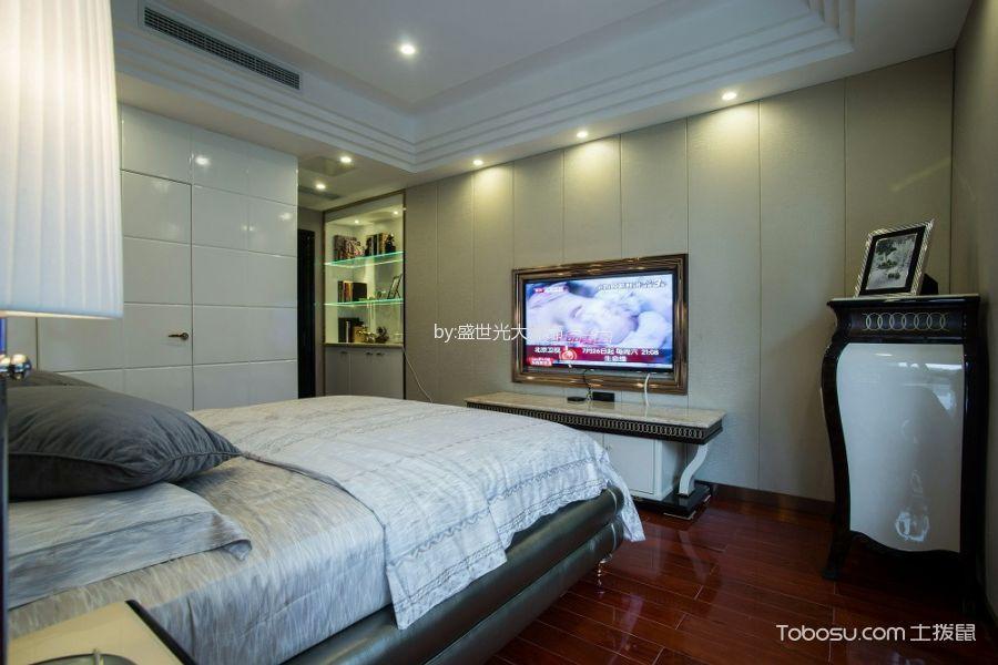 卧室 背景墙_混搭风格160平米三居室房子装修效果图