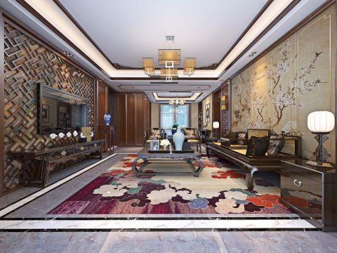 中式风格250平米大户型新房装修效果图