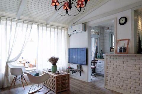 北欧风格70平米一房两厅新房装修效果图