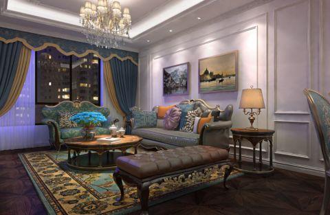 欧式风格109平米公寓室内装修效果图