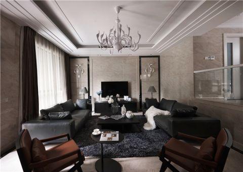 简欧风格160平米跃层房子装修效果图