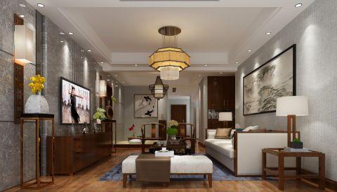 艾溪康桥新中式风格三居室设计效果图