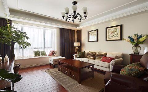 新中式风格90平米两房两厅新房装修效果图