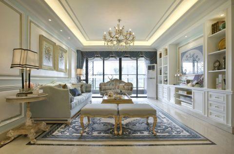 法式风格110平米三居室房子装修效果图
