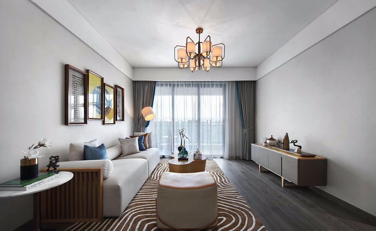 2室1卫1厅91平米新中式风格