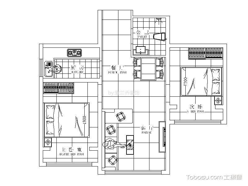 70平米田园风公寓装修设计