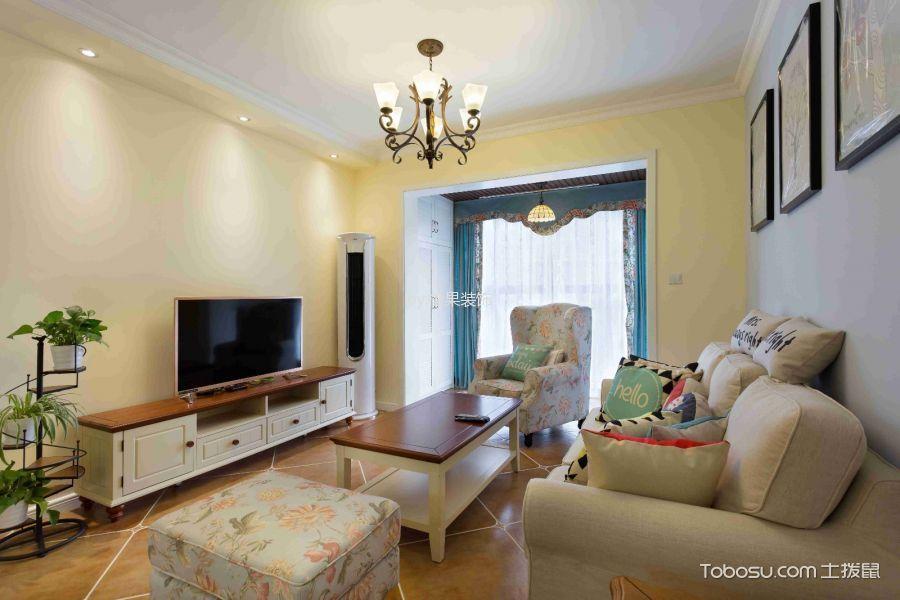 地中海风格100平米3房2厅房子装饰效果图