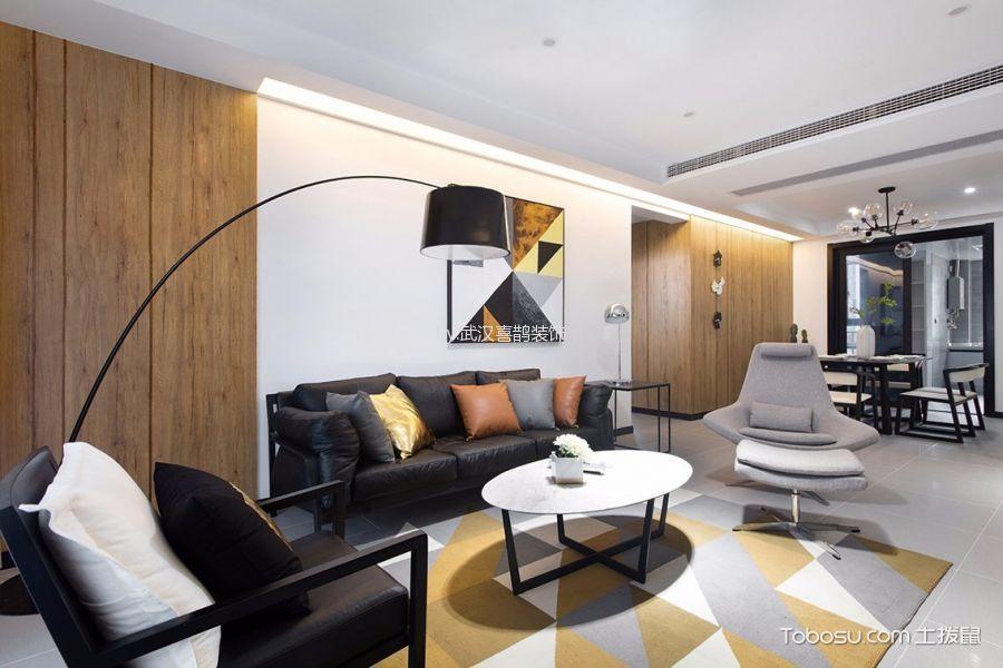 简约风格90平米3房2厅房子装饰效果图