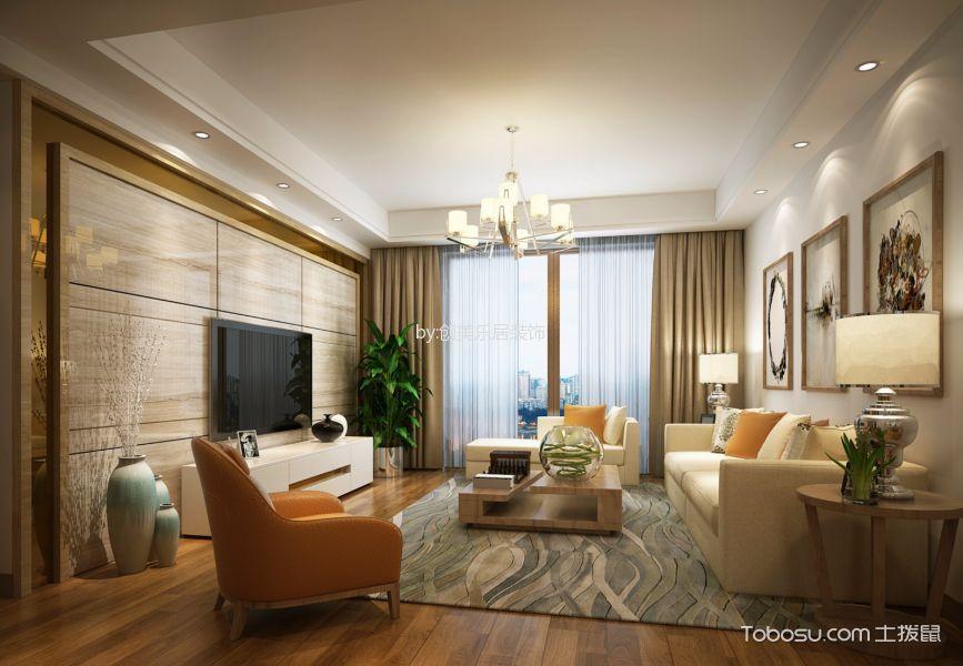 鸿鹏府邸现代简约风格二居室装修效果图