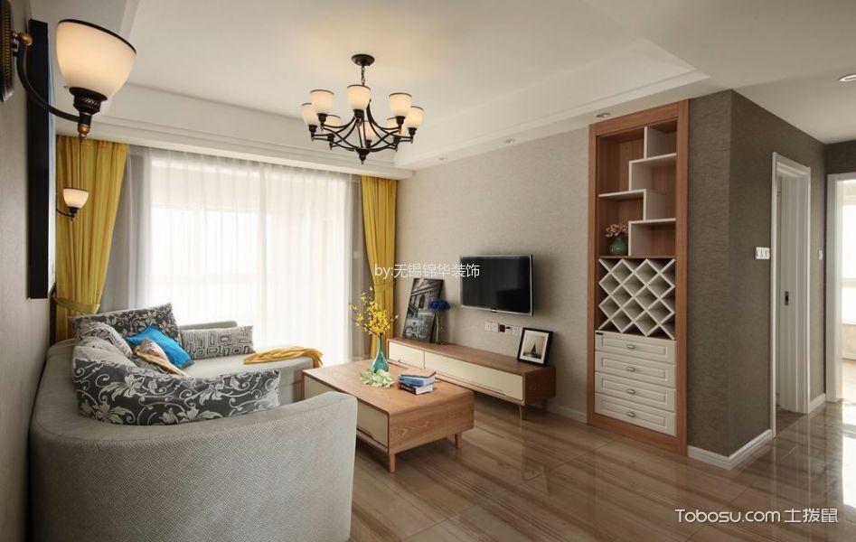 客厅 背景墙_现代简约风格89平米3房2厅房子装饰效果图