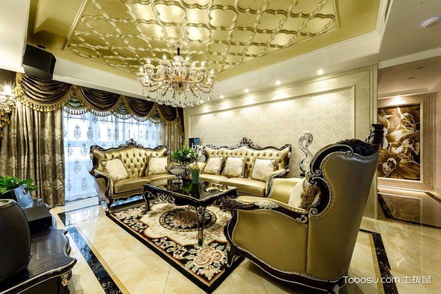 新古典风格150平米3房2厅房子装饰效果图
