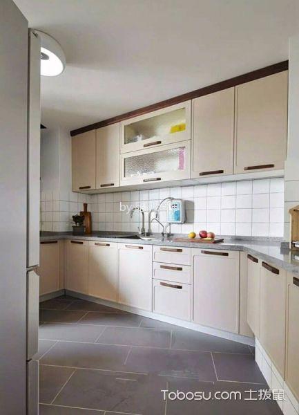 厨房白色背景墙北欧风格装潢图片