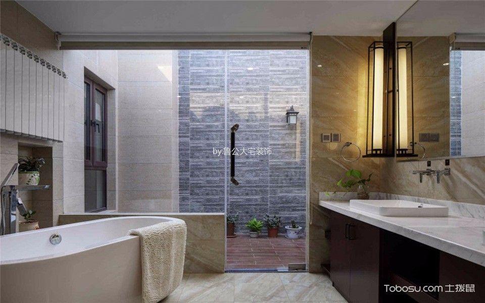 卫生间白色吊顶新中式风格装修效果图