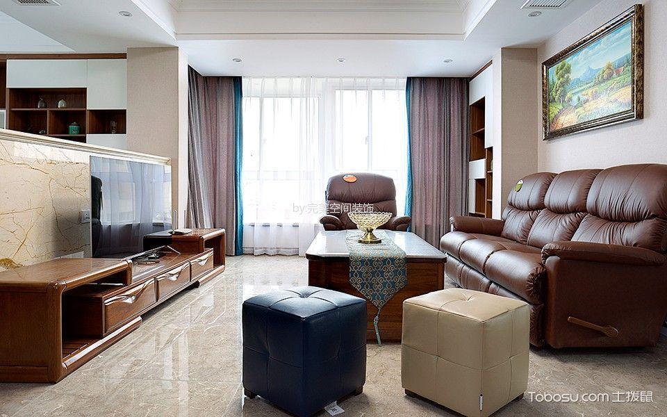 美式风格120平米套房室内装修效果图