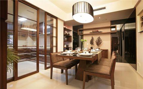 现代中式风格110平米三房两厅新房装修效果图