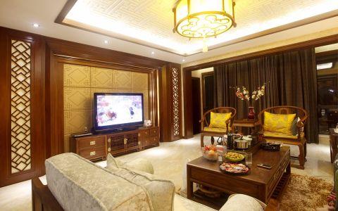 新中式风格230平米别墅房子装饰效果图