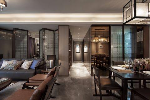世纪江尚现代中式混搭风格大户型家装效果图