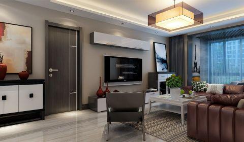 滨河果岭160平米现代极简风格样板房装修设计